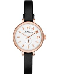 Marc By Marc Jacobs Mbm1352 Sally Rose Gold-Plated And Leather Watch - For Women - Lyst