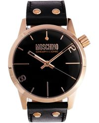 Boutique Moschino - Moschino Cheap and Chic Xxl Black Watch - Lyst