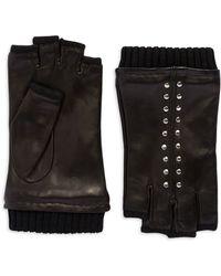 Michael Kors Fingerless Studded Gloves - Lyst