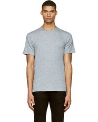 Rag & Bone Blue Slub T_Shirt - Lyst