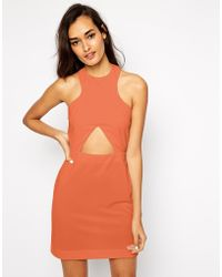 AQ/AQ Monica Body-conscious Dress with Keyhole Cut Out - Lyst