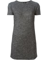 DSquared2 Gray Tweed Dress - Lyst