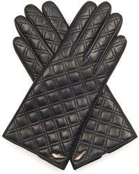 Diane von Furstenberg - Caning Quilted-Leather Gloves - Lyst