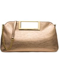 Michael Kors Berkley Large Metallic Leather Clutch - Lyst