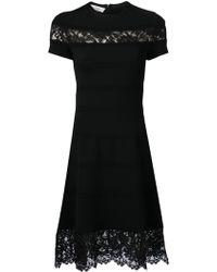 Valentino Lace Panel Dress - Lyst