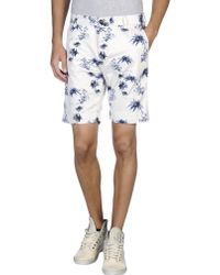 Scotch & Soda Bermuda Shorts white - Lyst
