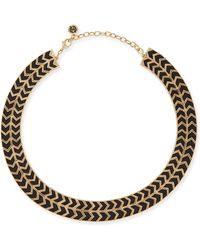 House of Harlow 1960 - Blackbird Golden-Framed Arrow Collar Necklace - Lyst