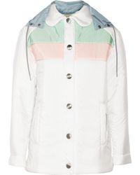 Miu Miu Colorblock Padded Shell Jacket - Lyst