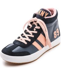 DKNY Kooper High Top Sneaker Navysundown - Lyst