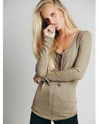 Free People We The Free Lace Up Layering - Lyst