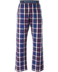 DIESEL | Checked Pyjama Pants | Lyst