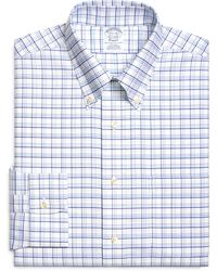 Brooks Brothers Non Iron Slim Fit Brookscool Triple Tattersall Dress Shirt - Lyst