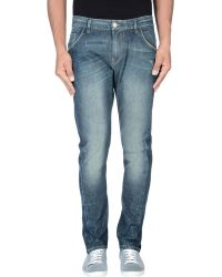 Nine:inthe:morning Denim Trousers blue - Lyst