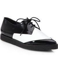 Pierre Hardy Derby Patent Leather Platform Oxfords - Lyst