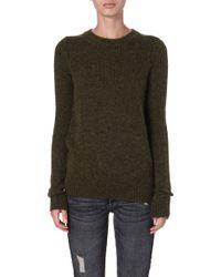 Etoile Isabel Marant Robin Knitted Jumper Beige - Lyst