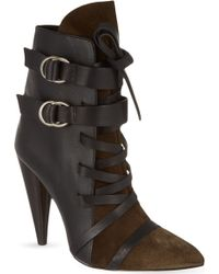 Isabel Marant Royston Suede and Leather Ankle Boots - Lyst