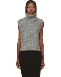 3.1 Phillip Lim Grey Sleeveless Wool Turtleneck - Lyst