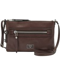 Fossil - Dawson Across Body Leather Bag - Lyst