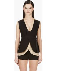Costume National Nude and Black Layered Backless Vest - Lyst