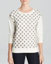 Alice + Olivia Sweatshirt - Drew Embellished Front - Lyst