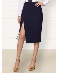 Ralph Lauren Collection Wool Tasha Skirt - Lyst