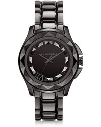 Karl Lagerfeld 435 Mm Gunmetal Ion-plated Stainless Steel Unisex Watch - Lyst