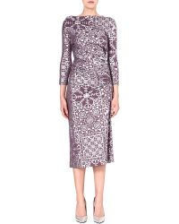 Vivienne Westwood Anglomania Taxa Printed Jersey Dress - Lyst