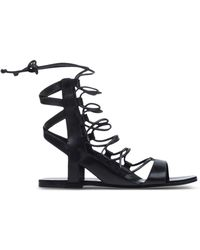 Belle By Sigerson Morrison | Caged Leather Sandals | Lyst