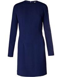 Balenciaga Bi-Colour Crepe Dress - Lyst
