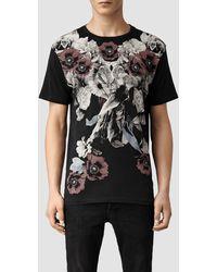 AllSaints Floraz Crew T-shirt - Lyst
