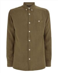 Jaeger Washed Linen Slim Shirt - Lyst