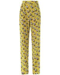 Gucci Beach Umbrellaprint Silk Trousers - Lyst