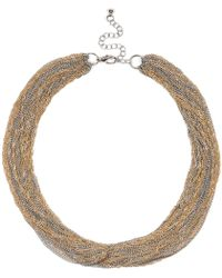 River Island Mixed Metal Multi Chain Necklace - Lyst