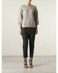 By Malene Birger Lulux Metallic Sweater - Lyst