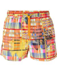 Etro Checked Swimming Shorts - Lyst