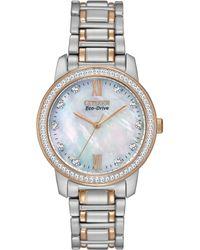 Citizen Women'S Eco-Drive Two-Tone Stainless Steel Bracelet Watch 35Mm Em0116-55D - A Macy'S Exclusive - Lyst