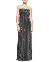 Parker Lovey Strapless Beaded Maxi Dress - Lyst
