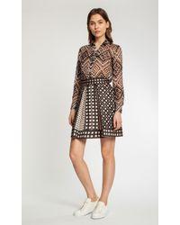 Temperley London Mini Portofino Quilted Pleat Skirt - Lyst