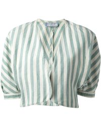 Yves Saint Laurent Vintage Striped Cropped Jacket - Lyst