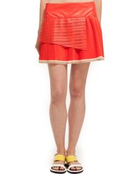 Suno Pleated Mini Skirt - Lyst