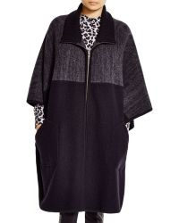 DKNY - Colour Block Wool Poncho - Bloomingdale's Exclusive - Lyst