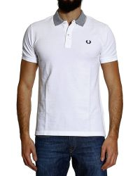 Fred Perry Tshirt Polo Piquet Short Sleeve Slim Underneck Flag - Lyst