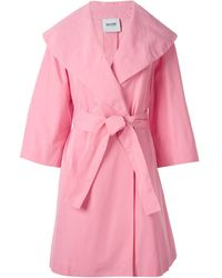 Moschino Cheap & Chic Oversize Belted Overcoat - Lyst