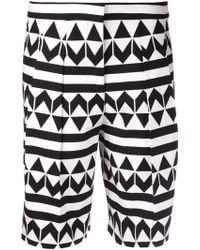 Edun Arrowprint Box Pleat Short - Lyst