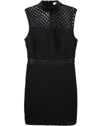 Elizabeth And James Lattice Fitted Dress - Lyst