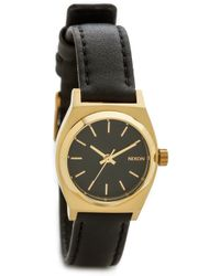 Nixon Small Time Teller Watch - Black/Gold - Lyst
