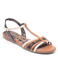 Jessica Simpson Deniece Multicolored Tstrap Wedge Sandals - Lyst