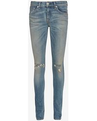 Rag & Bone Capistrano Knee Slash Skinny - Lyst