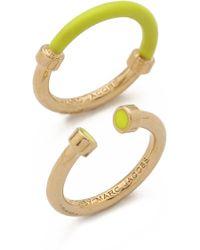 Marc By Marc Jacobs - Hula Hoop Ring Set Black - Lyst