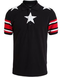 Givenchy White Star Cotton Polo - Lyst